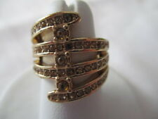 AVON Terranova Ring Goldtone with Clear Rhinestones   Size 6