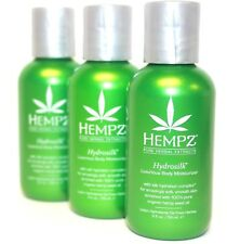 3x~Hempz~Hydrosilk~Organic Body Moisturizer~Herbal Hemp Seed Oil Extract~Lotion