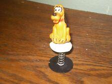 Vintage Walt Disney Spring-Loaded Popup Toy. Pluto, Bobble. Made In Hong Kong.