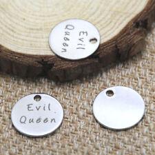 10pcs evil queen charm silver tone message charm pendant 20mm
