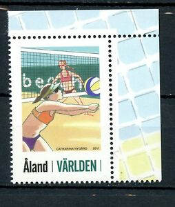 Aland MNH 2011 My Aland Nygard Beach Volleyball Single From Mini Sheet  K123