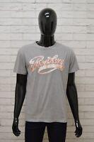 Maglia REPLAY Uomo Taglia Size XL Maglietta Shirt Man Cotone Manica Corta Grigio