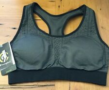 Champion Womens Seamless Sportsbra With Removable Cups Grey And Black Size Small
