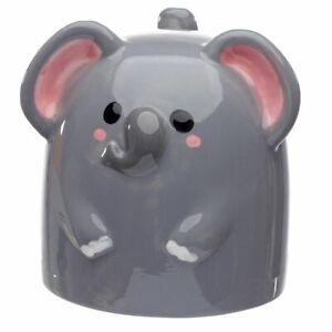 CUTIEMALS NOVELTY ELEPHANT UPSIDE DOWN CERAMIC MUG COFFEE TEA CUP NEW & GIFT BOX