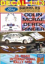 DECAL 1/43 FORD SIERRA RS COSWORTH C.McRAE MANX INTERNATIONAL R. 1990 3rd (08)