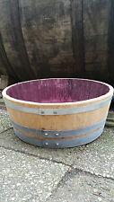 1/4-Faß mit EXTRARING am oberen Rand, Blumenkübel Eichenfass Weinfaß Holzfaß