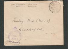 1942 Egypt 64 Wwii Oas censor 4211 cover to Barclays Bank Alexandria