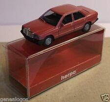 MICRO HERPA HO 1/86 1/87 MERCEDES BENZ 190 E ROSE METAL IN BOX