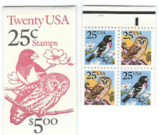 Scott # 2284/5...25  Cent...Owl/Bird...Booklet  of 20 Stamps...BK #160