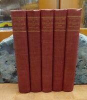HISTORY OF ENGLAND by Thomas Macaulay 5 Volume Set 1848-1859 NICE Hurst & Co