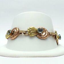 Vintage Harry Iskin Zircon 1/20th 12K Gold Filled December Birthstone Bracelet