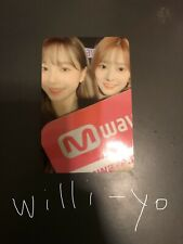 IZONE Mwave Meet&Greet Yuri Minju Unit Photocard *RARE* IZ*ONE