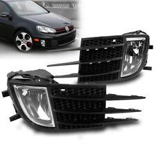 2010-2012 VOLKSWAGEN VW MK6 GTI 2.0T CHROME BUMPER FOG LIGHTS W/BLACK BEZEL 2011