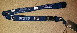 NFL New York Giants Blue Breakaway Lanyard Keychain NWT Free Shipping