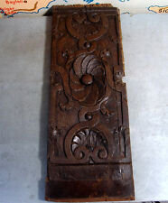 16th Architectural gothic panel Antique french hand carved wood salvaged carving
