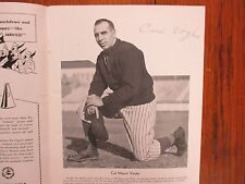"CARL ""DUTCH"" VOYLES(Died-1982)Signed 1941 William and Mary (VMI)Football Program"