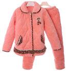 Orange Elegance Lady's Long Sleeve Coral Fleece Sleepwear/Pajamas 6 8 10 12 14&