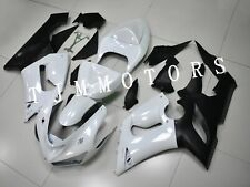 For Ninja ZX-6R 2005 2006 ABS Injection Mold Bodywork Fairing Kit Pearl White