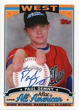 2008 Bowman DP&P AFLAC Paul Demny On Card Autograph Washington Nationals