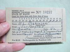 Licenze da pesca vintage