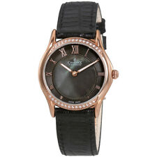 Charmex Cannes Black Mother of Pearl Dial Ladies Leather Watch 6327