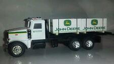 1/64 ERTL farm toy custom John deere Peterbilt truck w/ 4 jd skids speccast dcp