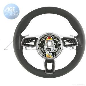 OEM Porsche Cayenne 958 MACAN 991 Leather Steering Wheel w. Gear Paddle Shifters