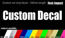 2x impacto Font Personalizado Nombre Stickers-Bicicleta Auto Van Camioneta 150 Mm