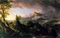 Oil painting Thomas cole - The Course of the Empire The Savage State - landscape