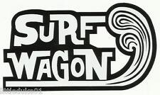 SURF WAGON WOODY Panel Van UTE Surfboard Sticker Decal Longboard Surfing Ford VW