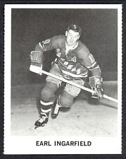 1965 COCA-COLA COKE EARL INGARFIELD N-MINT NEW YORK N Y RANGERS  HOCKEY CARD