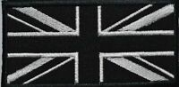Union Jack Black Flag Mono Embroidered Sew/ Iron-On Patch Jacket Badge