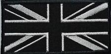 Union Jack Black Flag Mono Embroidered Sew/ Iron-On Patch Jacket Badge