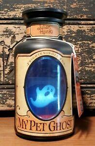 HALLMARK HTF Tag MY PET GHOST IN BOTTLE JULIAN HIJINKS 3D LIGHT SOUND Halloween