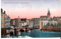 AK Ansichtskarte Metz / St. Georgenbrücke mit St. Segolenakirche - 1920er