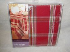 Age Of Elegance Fabric Tablecloth 60 X 84 Oblong Red, Green, Beige, Gold NIP