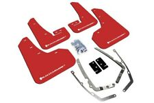 Rally Armor Mud Flaps For 2015-2017 VW MKVII Golf TSI, GTI Red w White Logo