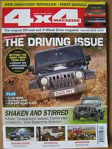 4 x 4 4x4 Magazine December 2016 Defender Spectre Range Rover buying Discovery