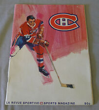 1968 Feb.1st  NHL Montreal Canadiens vs New York Rangers Hockey Program