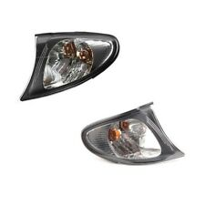 BMW 3 Series E46 Front Left and Right White Lense Turn Signal Lights Kit ULO NEW
