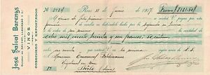 1917 Bâle (Basel), Switzerland Over-sized Bank Check for 8,131.50 Francs ~