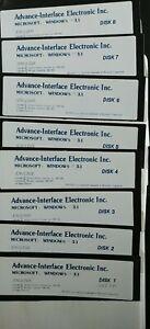 "Vintage! Windows 3.1 on eight 5.25"" Floppies."