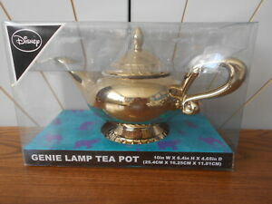 GOLD GENIE LAMP teapot with lid ALADDIN Primark Disney, unused and boxed