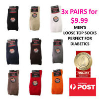 Men's Diabetic Loose Top Medical Circulation Socks Wide Top SEAMLESS TOE 3 PAIRS
