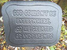 Grandparents plastic mold concrete plaster casting mould