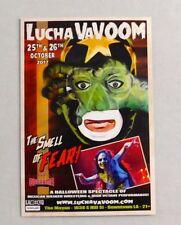 Lucha VaVoom Halloween 2017 Promotional Flyer Hollywood CA Sexy Wrestler Horror