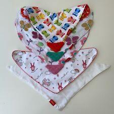 Nuby Baby Girls Teething Bibs Bundle