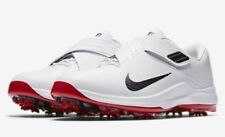 NIKE TIGER WOODS TW17 MENS WHITE/RED/BLACK GOLF SHOES 10 WIDE $200