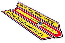 KHE Highriser Bonanzarad Aufkleber Sticker für Rahmen sehr Hochwertig