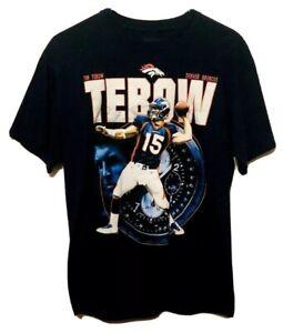 Tim Tebow Denver Broncos Reebok NFL Full Print Blue Mens T-Shirt Medium